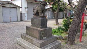 富賀岡八幡宮 狛犬 (1)
