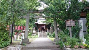 烏森稲荷神社 鳥居と社号標