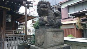 利田神社 狛犬 (2)