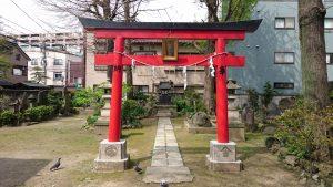 富賀岡八幡宮 浅間神社 鳥居