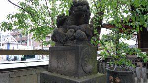 利田神社 狛犬 (1)