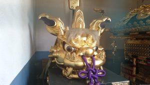 八幡大神社 獅子頭 (2)