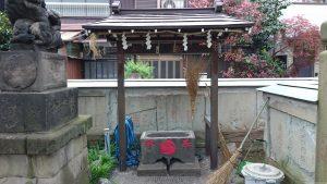 利田神社 手水舎・明治七年水鉢