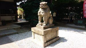 雑司が谷大鳥神社 拝殿前狛犬 阿