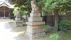 大森山王日枝神社 大正12年狛犬 (2)