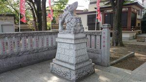 雑司が谷大鳥神社 社頭狛犬 吽