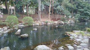 和樂備神社 神池(堀跡)
