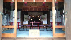 宇喜田稲荷神社 拝殿内部