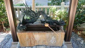 六本木天祖神社(龍土神明宮)  弘化3年水盤
