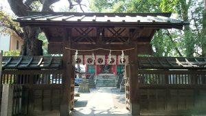 馬込八幡神社 棟門