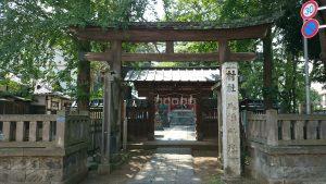 馬込八幡神社 鳥居と社号標