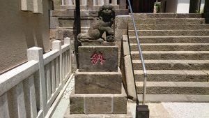 六本木天祖神社(龍土神明宮)  嘉永4年狛犬 (1)