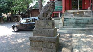 馬込八幡神社 狛犬 (1)