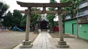 大田区矢口氷川神社 鳥居