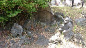 亀戸浅間神社 亀戸の富士塚(笄塚) 石猿像