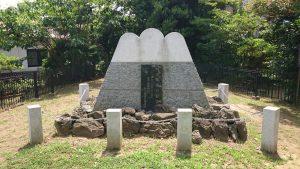 亀戸浅間神社 亀戸の富士塚(笄塚) 記念碑