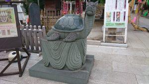 亀有香取神社 神亀像 吽