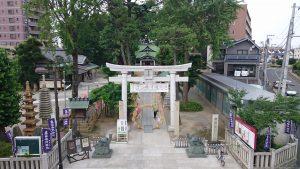 亀有香取神社 境内俯瞰