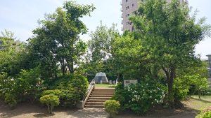 亀戸浅間神社 亀戸の富士塚(笄塚) 全景