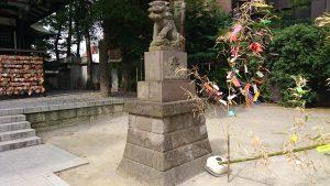 亀有香取神社 拝殿前狛犬 (2)