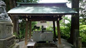 中野氷川神社 手水舎
