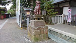 大洗磯前神社 備前焼狛犬 (1)