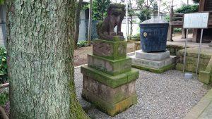 久が原東部八幡神社 狛犬 (1)