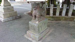 多摩川諏訪神社 明治4年奉納狛犬 (2)