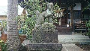 産千代稲荷神社 明治35年狛狐 (1)