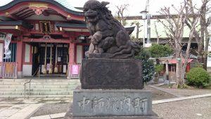 鮫洲八幡神社 嘉永2年狛犬 (2)
