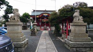 多摩川諏訪神社 昭和15年奉納狛犬