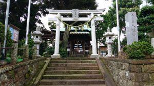 久が原東部八幡神社 鳥居と社号標