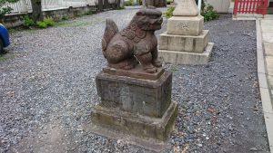 多摩川諏訪神社 明治4年奉納狛犬 (1)