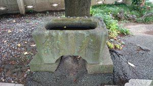 多摩川諏訪神社 明和2年水盤