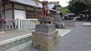 大洗磯前神社 備前焼狛犬 (2)