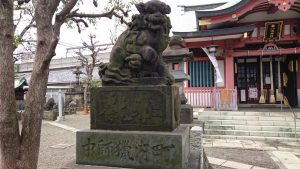 鮫洲八幡神社 嘉永2年狛犬 (1)