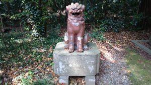 常磐神社 本殿裏備前焼狛犬 (2)