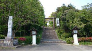 常磐神社 社号標