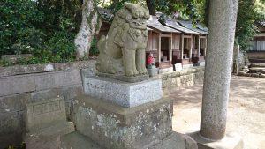 酒列磯前神社 狛犬 (1)