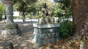 常磐神社 参道狛犬 (2)