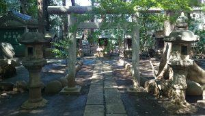 ときわ台天祖神社 境内社石鳥居 (1)