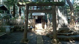 ときわ台天祖神社 境内社石鳥居 (2)