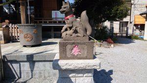三輪里稻荷神社(こんにゃく稲荷) 狐像 (2)