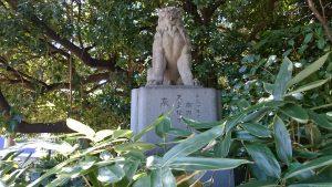 ときわ台天祖神社 南参道狛犬 (1)