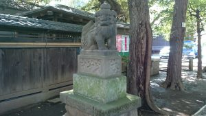 ときわ台天祖神社 弘化3年造狛犬 (1)