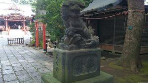 武蔵野八幡宮 明治12年造狛犬 (1)