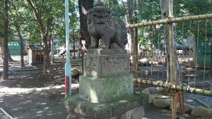 ときわ台天祖神社 弘化3年造狛犬 (2)