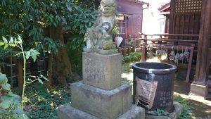 轡神社(轡権現社) 狛犬 (1)