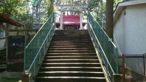 上板橋御嶽神社(桜川御嶽神社) 参道石段