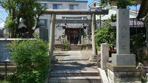 亀戸水神宮(亀戸水神社) 社号標と鳥居